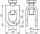 Zacisk do iglic odgromowych 8-16mm DEHN (2)